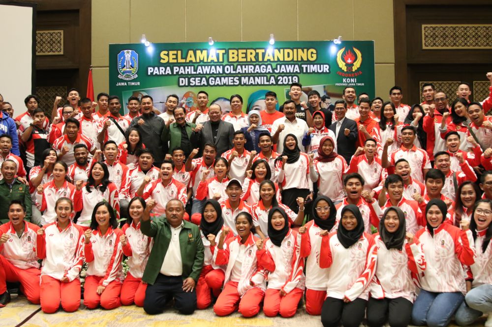 Pelepasan atlet Sea Games 2019 dari Jatim
