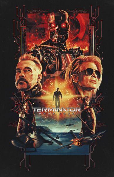 Poster Terminator karya ilustrator Indonesia, Yowdi Siantar