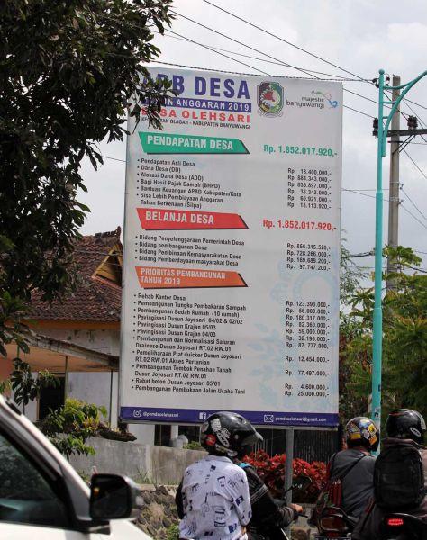 Pertanggungjawaban Pemerintahan Desa Olehsari, Kecamatan Glagah/Foto: Budi Sugiharto