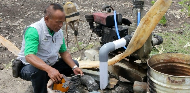 Kerusakan pompa air di Ponorogo (Mita Kusuma/jatimnow.com)