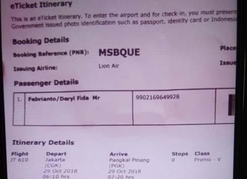 1 Warga Surabaya Masuk Daftar Penumpang Pesawat Lion Air Yang Jatuh
