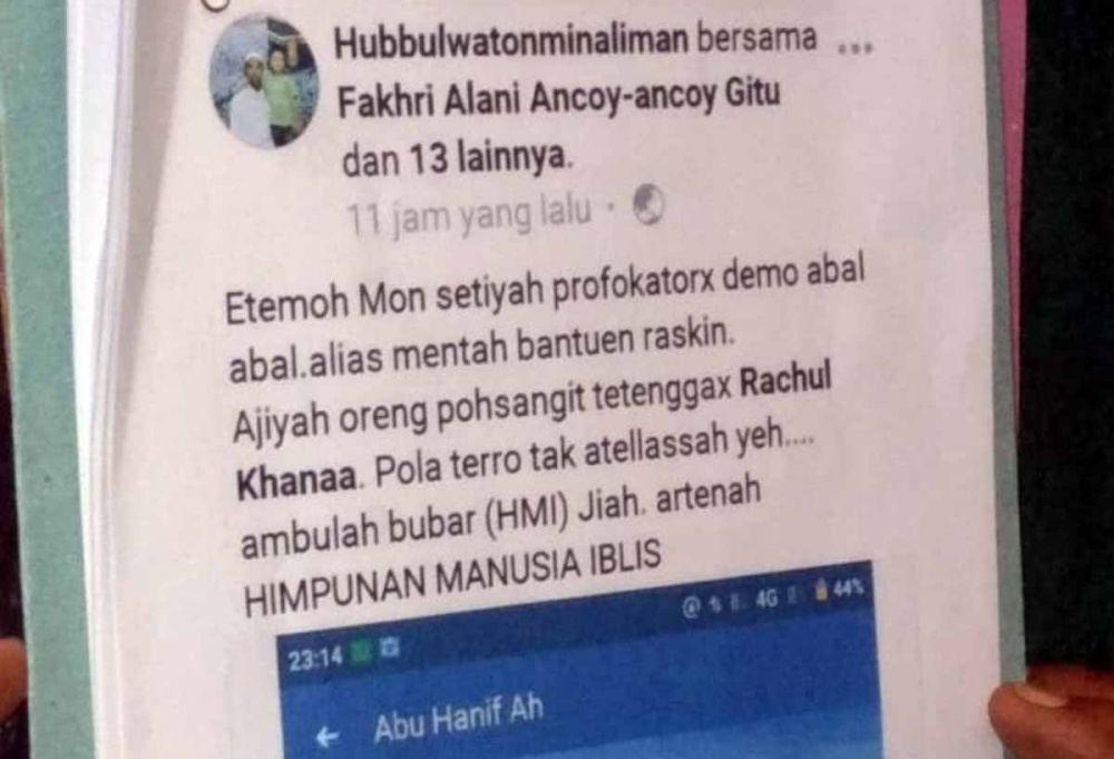 Akun Facebook yang dilaporkan mahasiwa HMI Probolinggo ke polisi