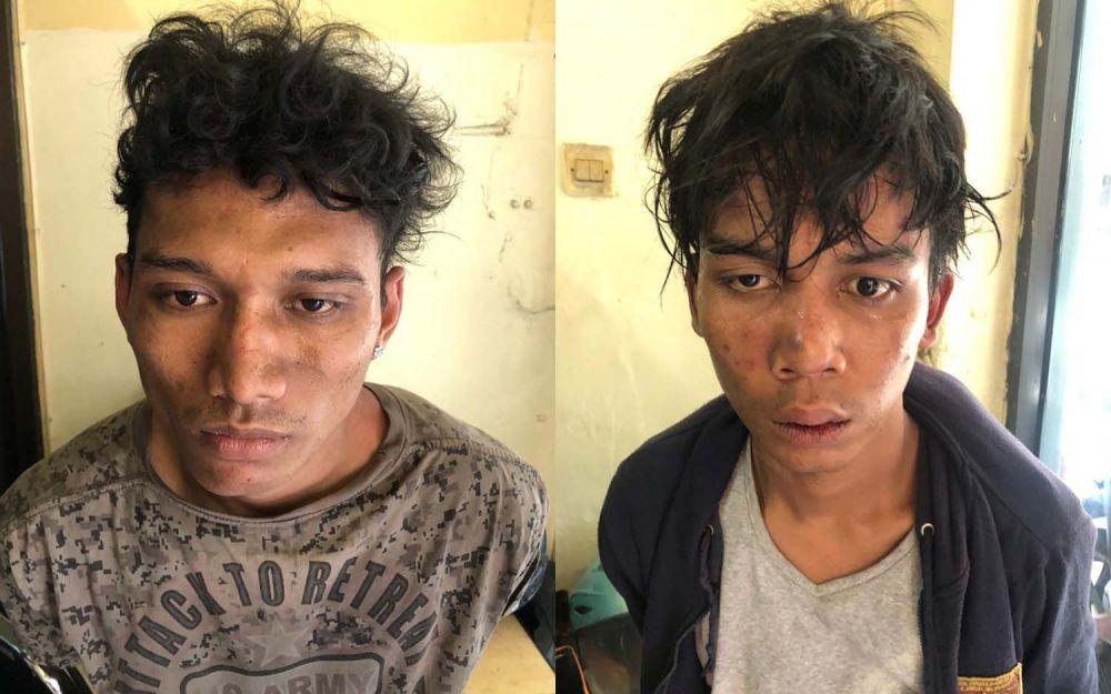 Tampang dua bandit jalanan yang beraksi 24 TKP di wilayah hukum Polsek Bubutan, Polrestabes Surabaya