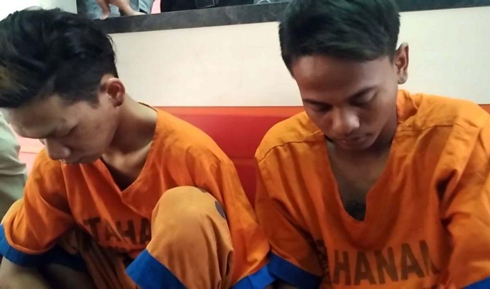 Tampang dua dari empat anggota komplotan begal motor sadis Pasuruan