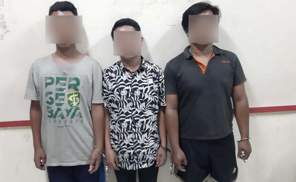 Tiga pemuda 'penjagal' motor curian diamankan di Mapolsek Bubutan, Surabaya