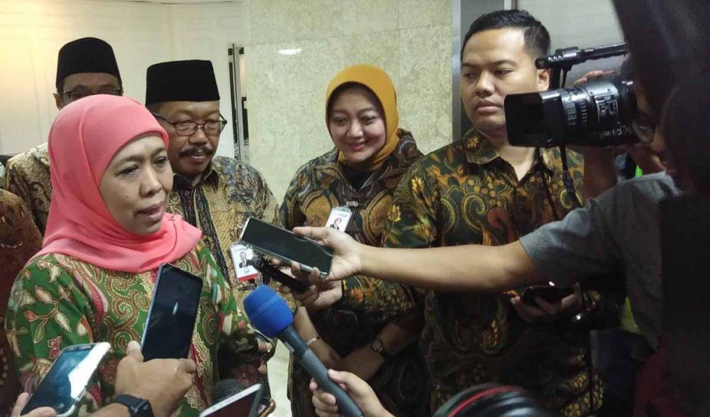 Gubernur Khofifah dalam RUPSLB digelar di Kantor Pusat Bank Jatim, Jalan Basuki Rahmat, Surabaya