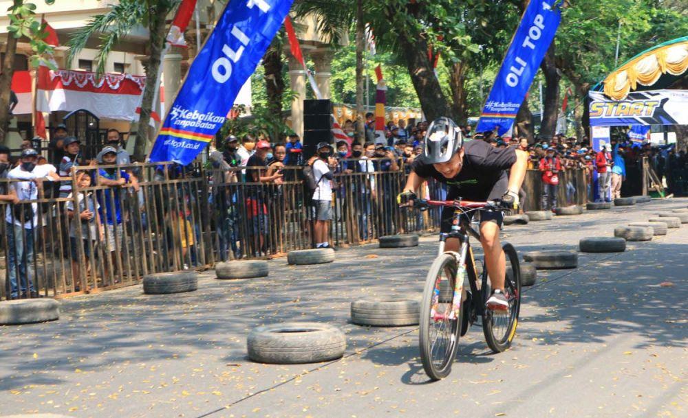 Salah satu peserta Drag Bicycle Bupati Ponorogo Cup 2020