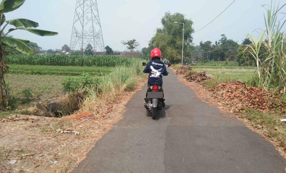 Jalan tempat begal payudara di Mojokerto beraksi