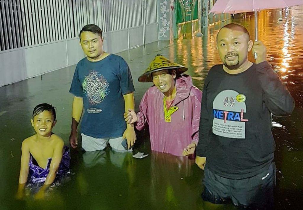Salah satu wilayah di Kota Mojokerto yang tergenang air