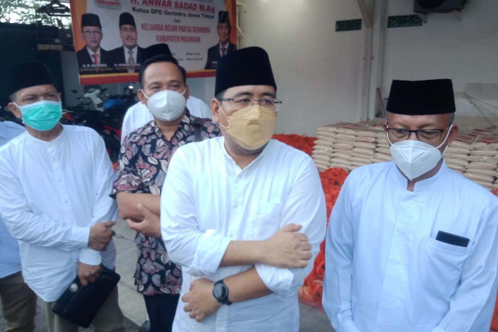 Ketua Gerindra Jatim, Anwar Sadad usai menghadiri acara children wow day (CWD) di Pasuruan