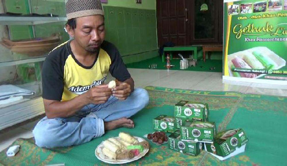 Getuk kurma buatan Siti Fatimah, warga asal Desa Ronosentanan, Kecamatan Siman, Kabupaten Ponorogo