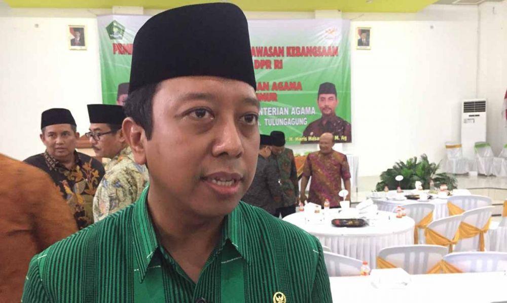 Dewan Penasehat TKN, Muhammad Romahurmuziy di Blitar