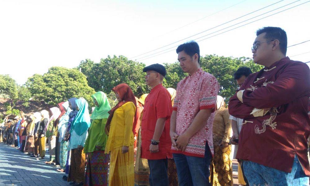 Para peserta upacara peringatan Hari Jadi Kota Probolinggo tahun 2019
