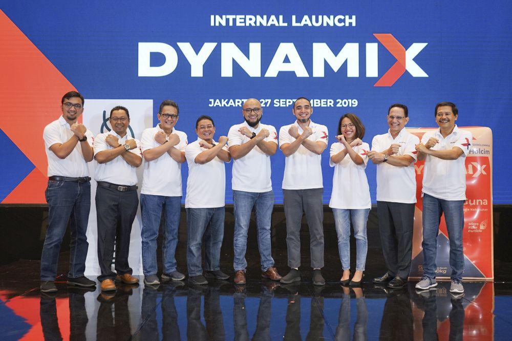 Penggantian merek Holcim menjadi Dynamix melalui Internal Launch di Hotel Intercontinental, Jakarta, Jumat (27/9/2019)