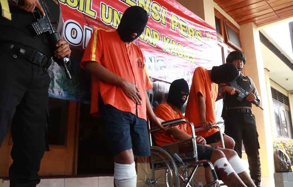 Ketiga pelaku begal ditembak Polres Ngawi