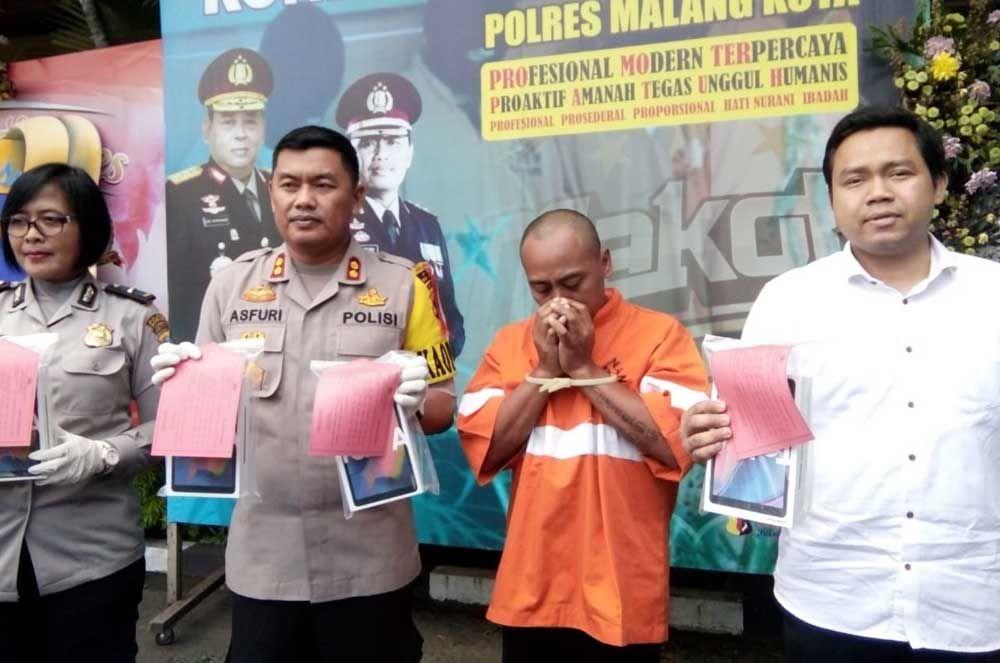 Polisi tangkap pelaku pencurian 95 handphone