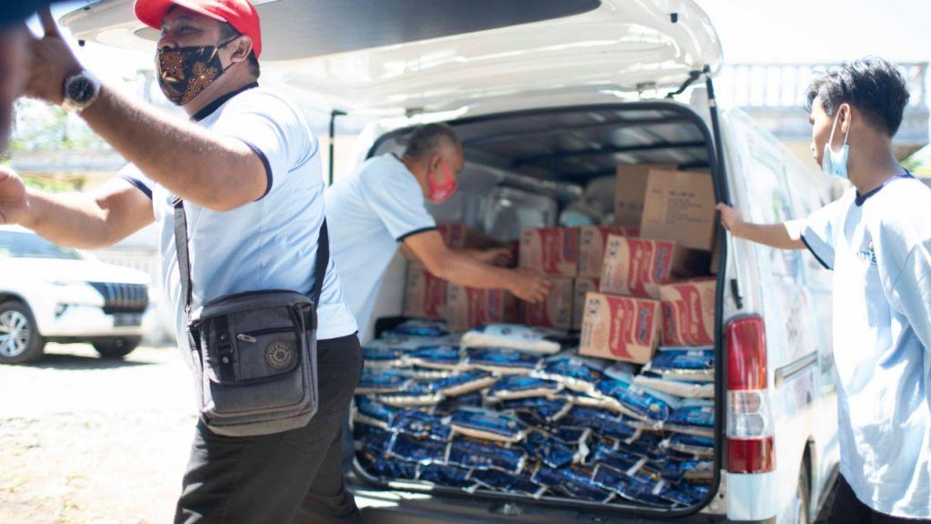 Bantuan dari perusahaan produsen ProEM-1 untuk para korban gempa Malang