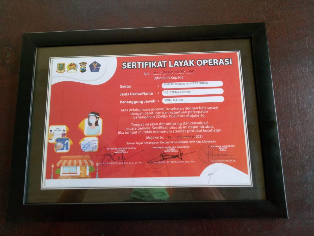 Resto Q5 Kota Mojokerto kembali buka setelah kantongi SLO