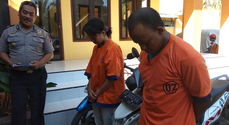 Pasangan TTM yang kompak mencuri motor milik kenalannya.