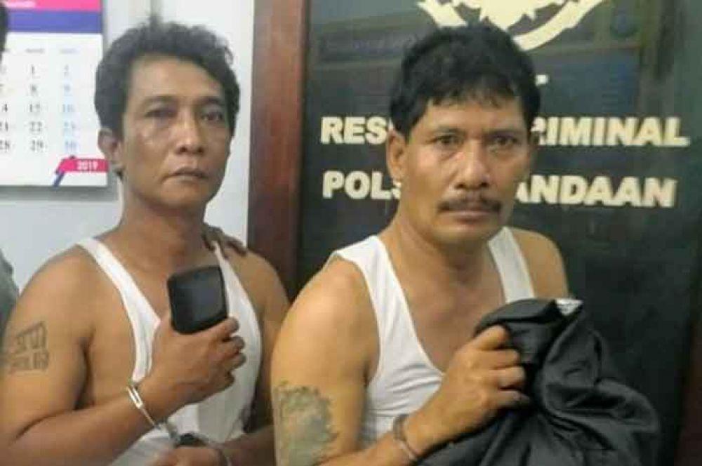Kedua pelaku copet di bus jurusan Surabaya-Malang diamankan