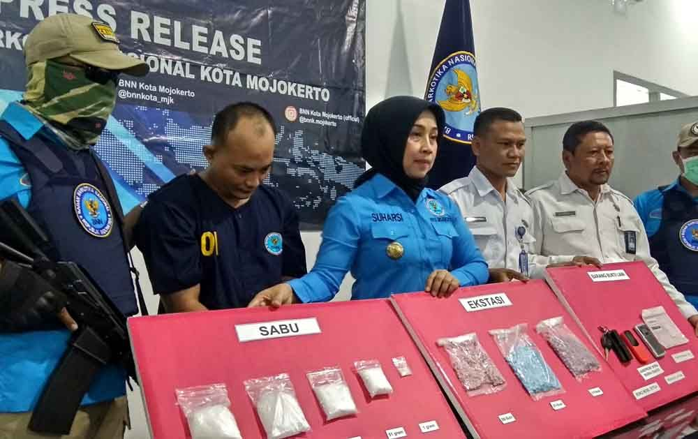 Bandar narkoba yang tertangkap BNN Kota Mojokerto