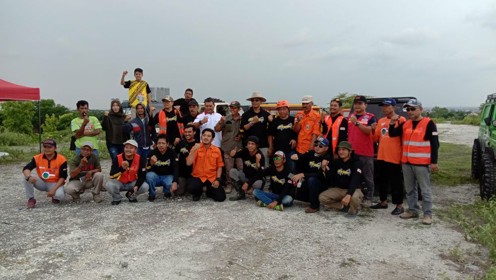 Gresik Offroad Community menggelar siaga bencana bersama BPBD