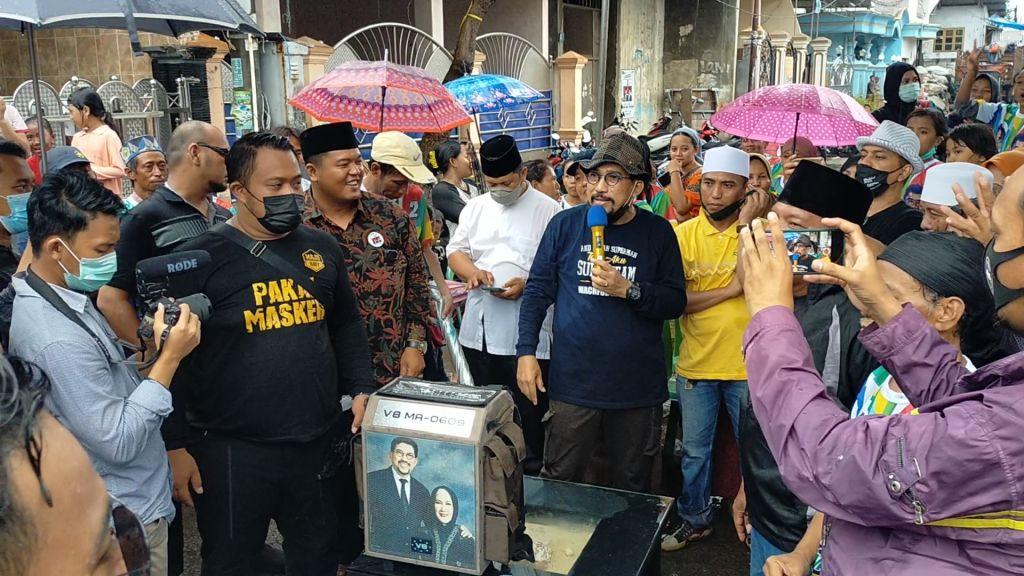 Antusiasme warga Jalan Arimbi, Sidotopo mendengar pemaparan Calon Wali Kota Surabaya Machfud Arifin