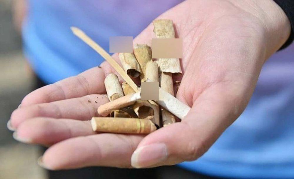 Sampah rokok yang dipungut istri bupati