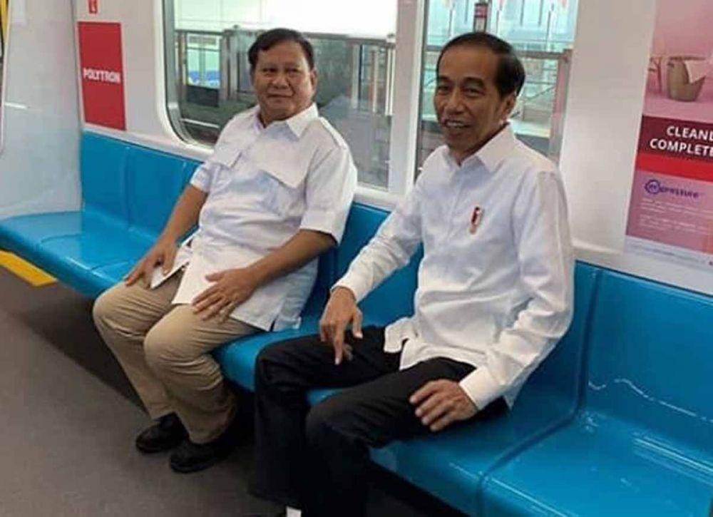 Suasana pertemuan Jokowi dan Prabowo (Foto: Viral)