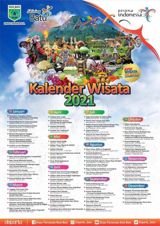 Kalender Wisata Kota Batu Tahun 2021