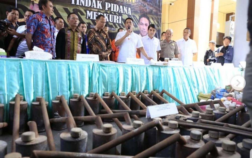Alat produksi merkuri ilegal di Sidoarjo disita di Mapolda Jatim