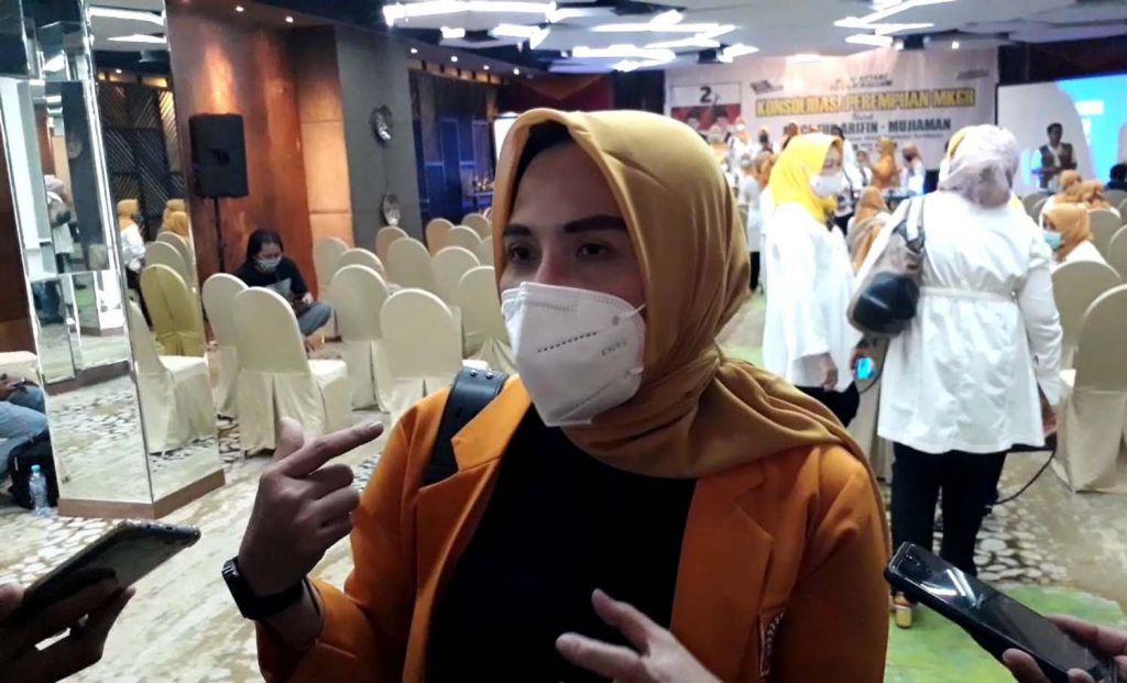 Ketua Gerakan Perempuan MKGR Jatim, Yuli Andriani