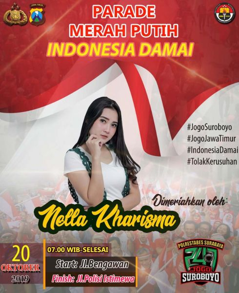 Parade Merah Putih di hari kedua akan dimeriahkan artis Nella Kharisma