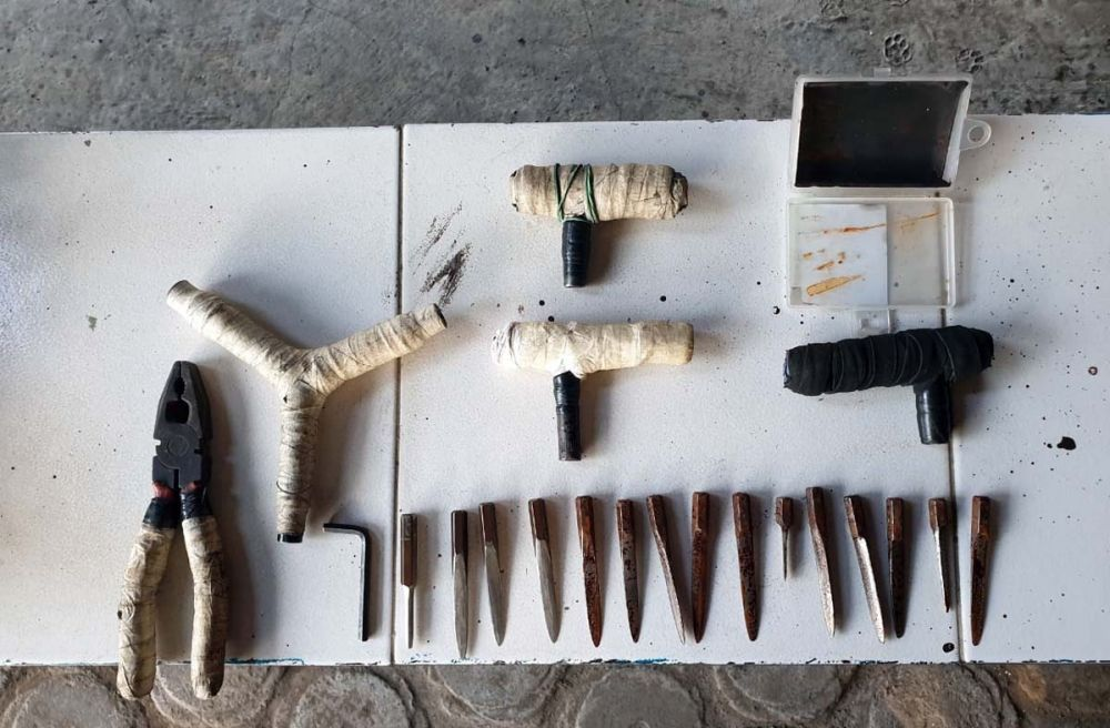 Alat-alat yang dipakai komplotan pencuri motor saat beraksi