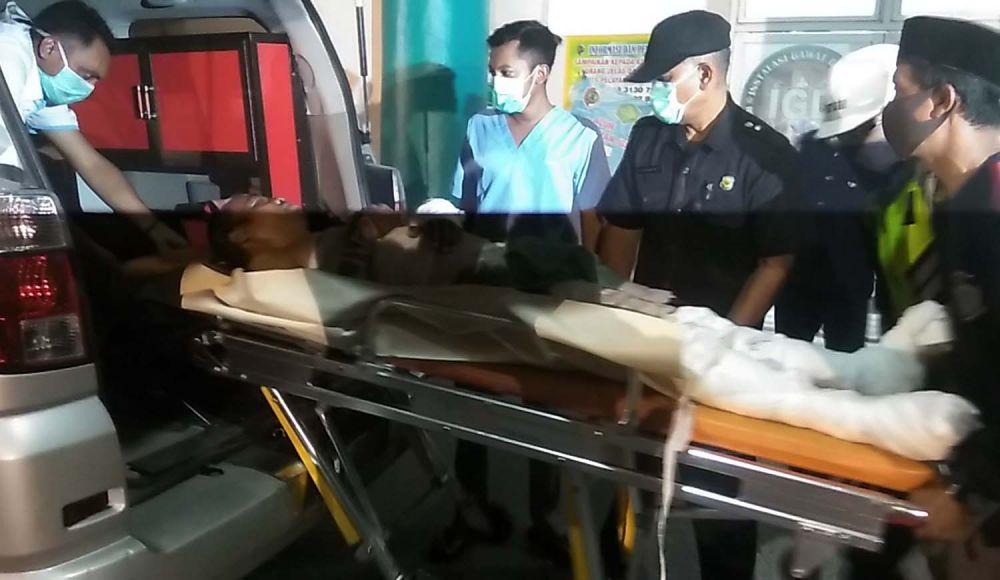 Salah satu korban ledakan di pabrik etanol Mojoketo