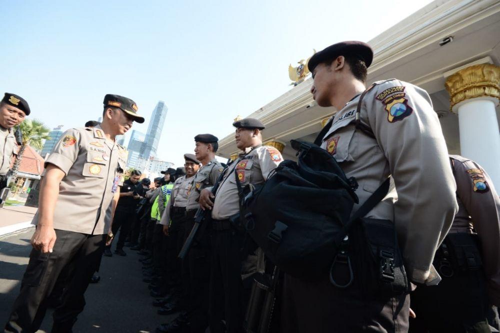 Ratusan personel Polri diterjunkan