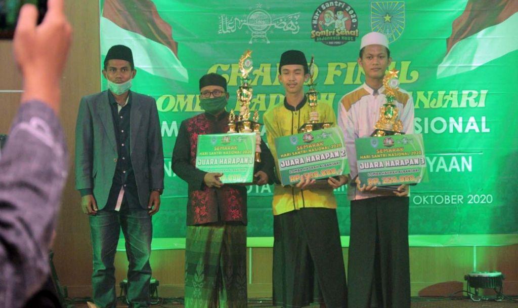 Pemenang lomba Hadrah Al Banjari yang digelar Dinas Pendidikan dan Kebudayaan Kota Probolinggo