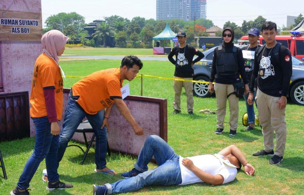 Tim Satreskrim Polres Blitar dalam lomba Olah TKP dan Upaya Paksa di Mapolda Jatim