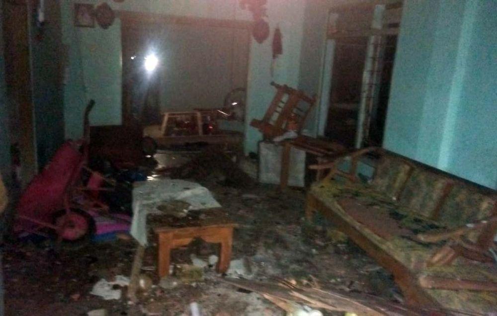 Kondisi salah satu rumah warga yang dirusak