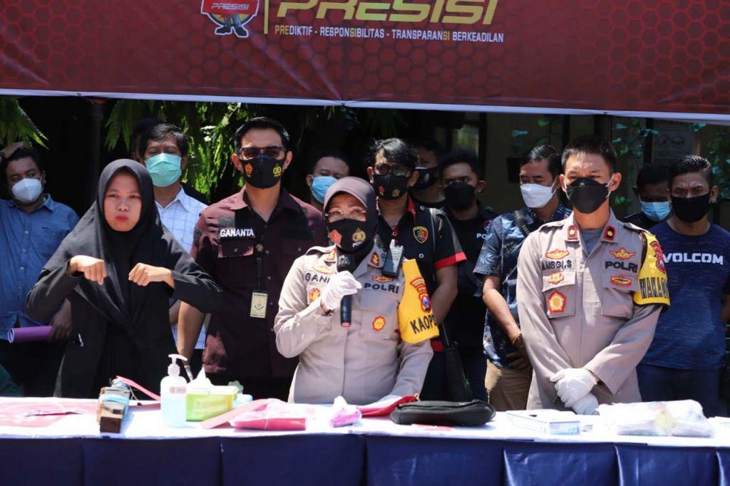 Hasil Operasi Pekat Semeru 2021 Polres Pelabuhan Tanjung Perak, Surabaya