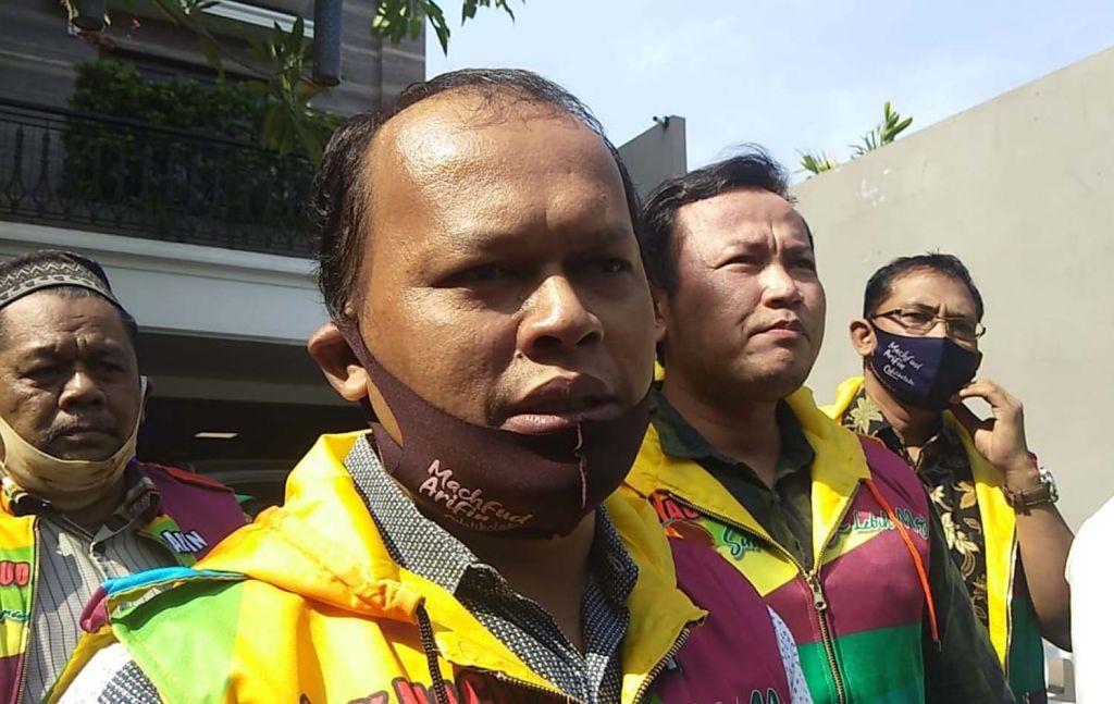 Ketua Paguyuban Jagal Kota Surabaya (Pajas), Muthowif usai bersilaturahmi ke kediaman Cawali Machfud Arifin