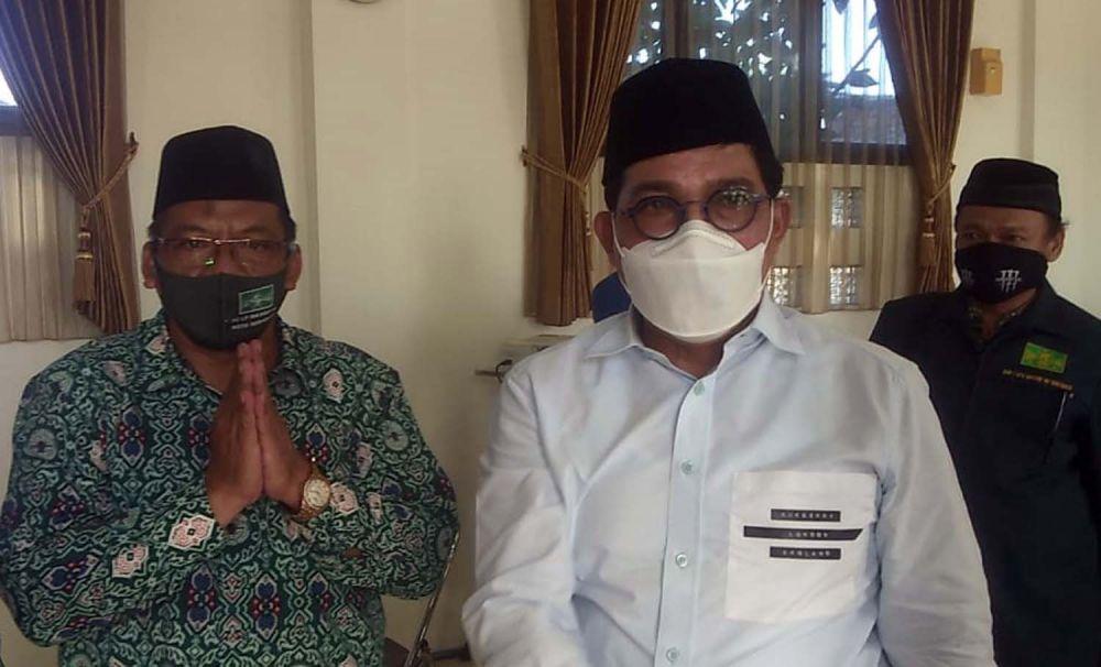 Calon Wali Kota Machfud Arifin menyambangi pengurus LP Ma'arif NU Surabaya