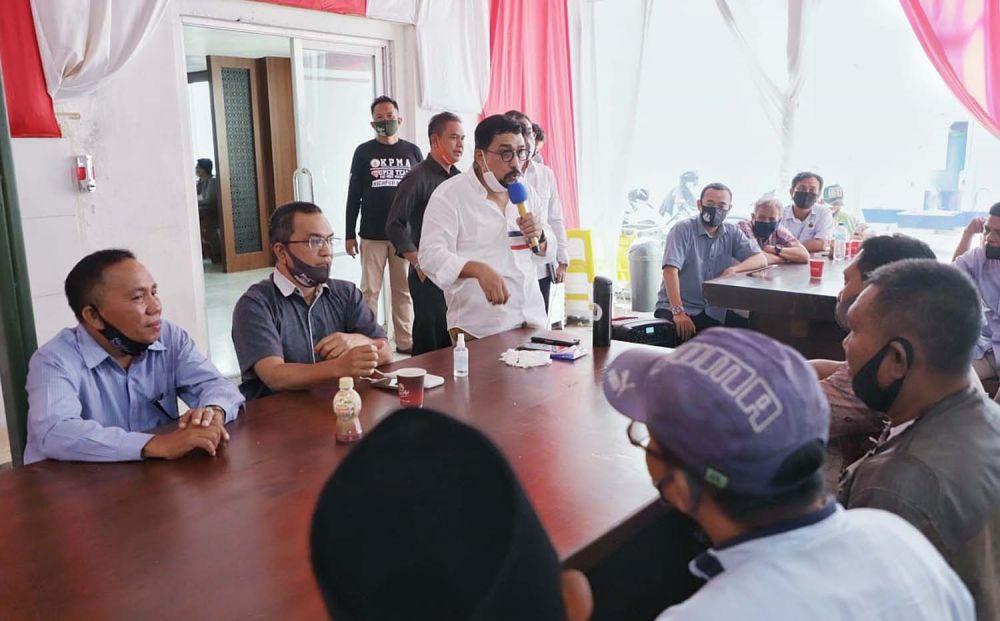 Calon Wali Kota Surabaya Machfud Arifin saat silaturahmi bersama Barisan Relawan Machfud Arifin (Brama)