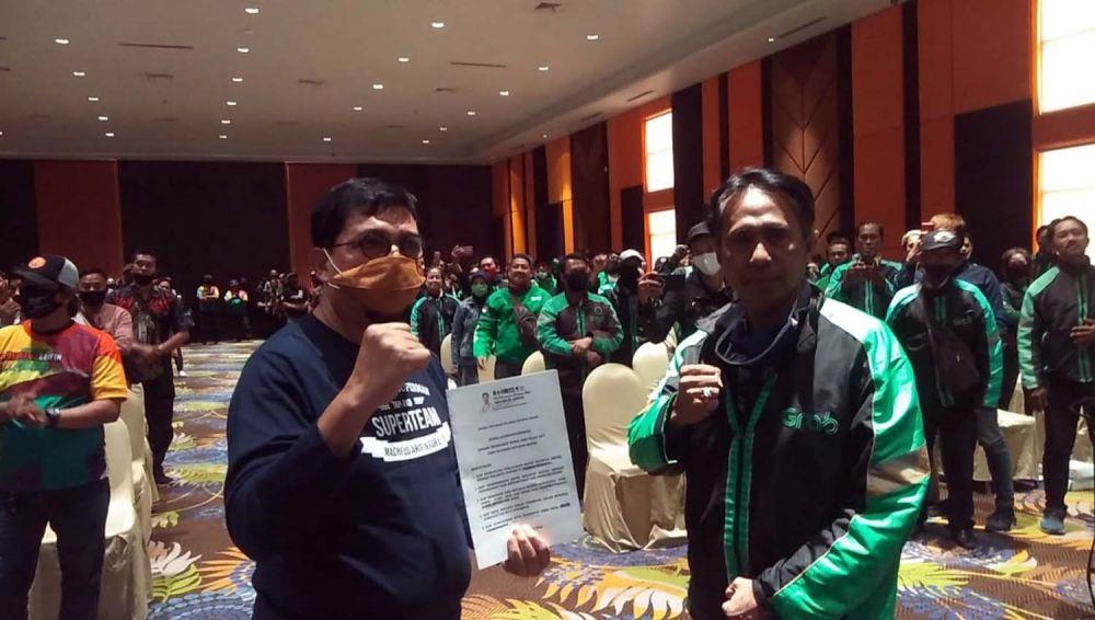 Para driver ojol di Surabaya deklarasi mendukung dan menangkan Machfud Arifin