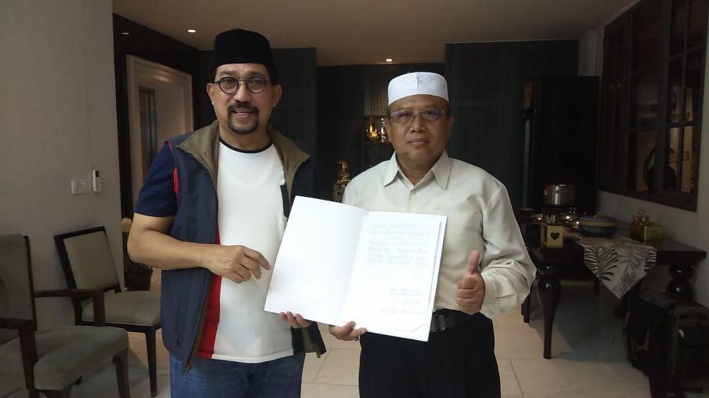 Calon Wali Kota Surabaya Mahfud Arifin dan Ketua Umum Ikatan Keturunan Sagipoddin (IKSA), Abdul Wahid Zain