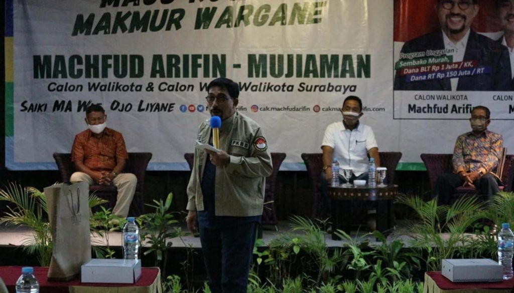 Para purnawirawan Brimob di Surabaya siap menangkan Machfud Arifin-Mujiaman