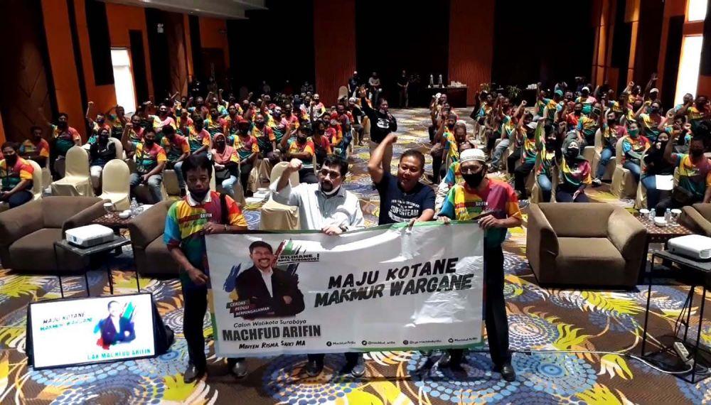 Pengurus RT-RW se Kecamatan Tegalsari menjadi bagian supertim yang siap menangkan Machfud Arifin di Pilwali Surabaya 2020