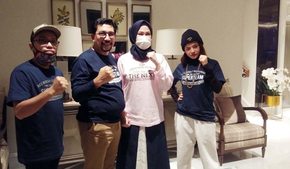 Penyanyi Lagu Lathi Sara Fajira mengajak kaum milenial di Surabaya jadi Supertim Machfud Arifin