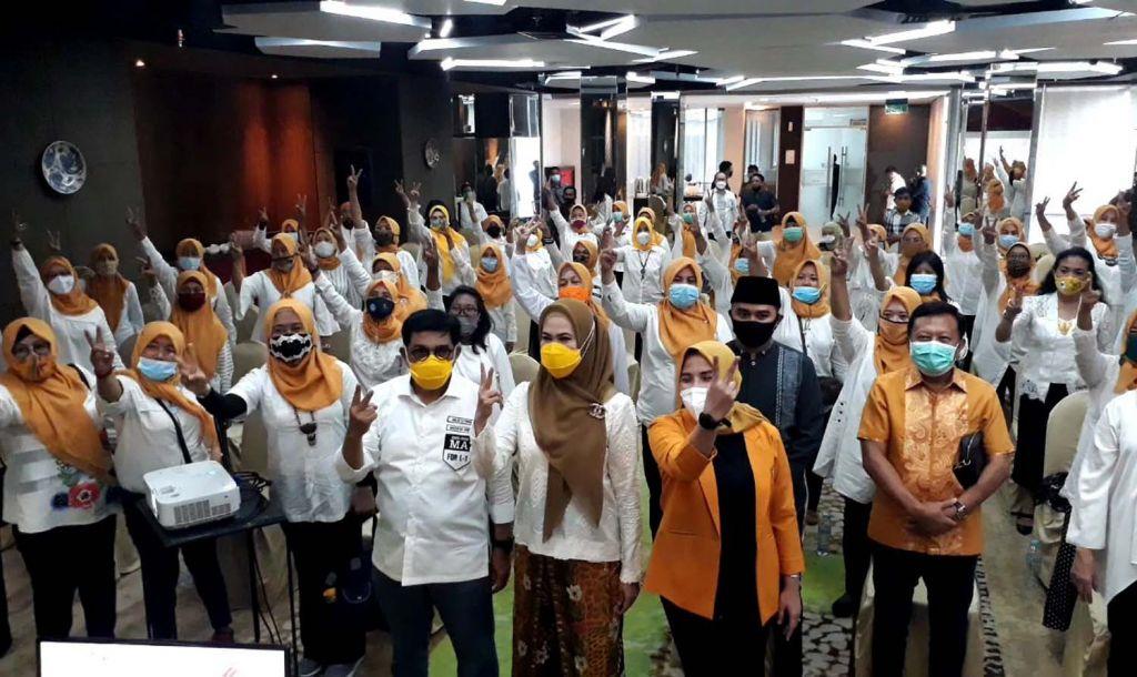 Gerakan Perempuan MKGR Jatim siap kawal suara Machfud Arifin-Mujiaman hingga ke TPS