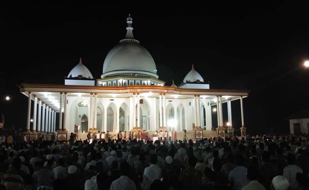 Masjid Muhammad Nur Hamzah di Ponpes Hidayatulloh Al Muhajirin, Arosbaya, Bangkalan, Madura yang diresmikan Mantan Kapolda Jatim, Irjen Pol (Purn) Machfud Arifin